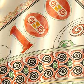 FR • Un billet de banque est un moyen de paiement mais aussi une œuvre d'art ! Le peintre belge Louis Titz à utilisé des lignes gracieuses et des couleurs vives dans le dessin de ce billet datant de 1905. L'oeuvre est réalisée à l'aquarelle, à l'encre et à la gouache. Le détail du billet représente à la fois le paysage industriel wallon et la campagne flamande unis par le lion belge.    NL • Een bankbiljet is een betaalmiddel, maar ook een kunstwerk! De Belgische schilder Louis Titz gebruikte bij dit biljetontwerp uit 1905 duidelijk sierlijke lijnen en prachtige kleuren, uitgevoerd in aquarel, inkt en gouache. Het detail is deel van een ontwerp waarbij zowel het Waalse industriële landschap als het Vlaamse platteland worden afgebeeld, verenigd door de Belgische leeuw.   #nbbmuseum #instamuseum #brusselsmuseums #visitbrussels #museum #exhibition #museumscenery #billet #billetdebanque #banknotes #bankbiljetten  #monnaie #argent #geld #money #billetophilie #notaphily #projet #ontwerp #design #aquarelle #gouache #aquarel #watercolour #louistitz  #belgischeleeuw  #lionbelge #francbelge #belgischefrank #belgianfranc